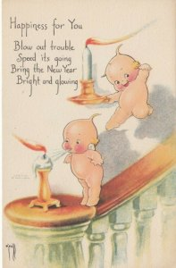 Kewpies ; Blow out Trouble , 1900-10s AS Rose O'Neill
