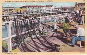 California San Francisco Fisherman's Wharf Mending Nets