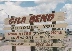 Arizona Gila Bend Welcome Sign 2006