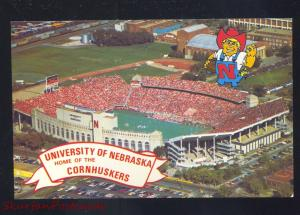 UNIVERSITY OF NEBRASKA CORNHUSKERS FOOTBALL STADIUM VINTAGE POSTCARD LINCOLN