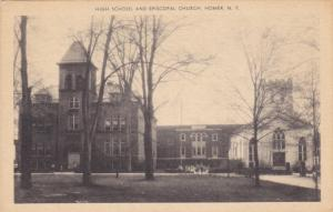 High School and Episopal Church, HOMER, New York, 10-20s