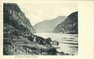 china, Upper Yangtze River, Yangtsekiang Cliffs (1899) Max Nössler Postcard
