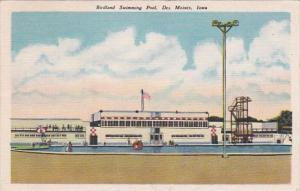 Iowa Des Moines Birdland Swimming Pool 1949
