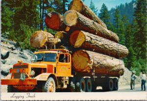 Logging Truck Full Of Big Logs Pacific Northwest Unused Vintage Postcard D55
