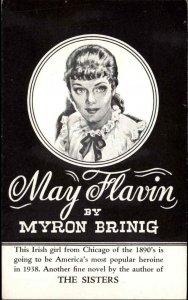Book Frontispiece Art May Flavin by Myron Brinig Brentano's New York City PC