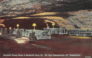 Snowball Dining Room, Mammoth Cave, Kentucky ca 1940s Vintage Postcard