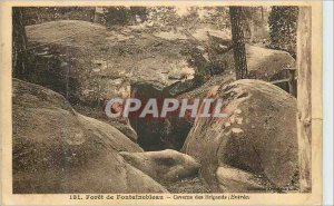 Postcard Old Forest of Fontainebleau Cave of Robbers (Entree)