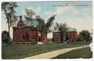 Lewiston, Me, Hedge Laboratory, Roger Williams Hall, Bates College