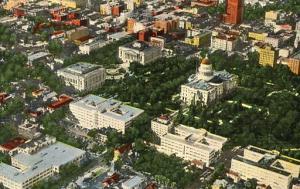 CA - Sacramento, Aerial View of Capitol & Office Buildings