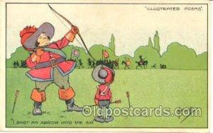 Archery, Bow & Arrow, Postcard Postcards Unused