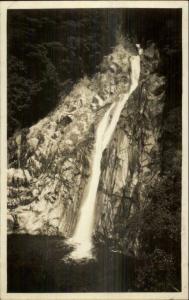 Kobe Japan Waterfall c1920s-30s Real Photo Postcard