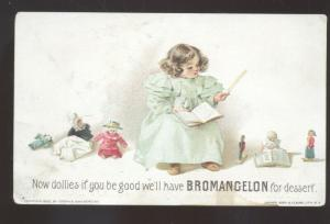 BROMANGELON FOR DESSERT JELLY VICTORIAN TRADE CARD ADVERTISING RR UPSON