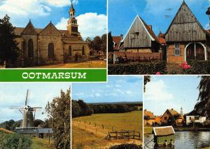 Netherlands Ootmarsum Church Mill Moule River Eglise Postcard