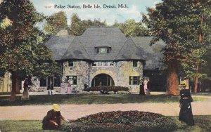 DETROIT, Michigan, PU-1909; Police Station, Belle Isle