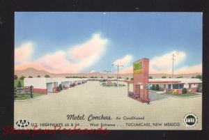 TUCUMCARI NEW MEXICO ROUTE 66 MOTEL CONCHAS AAA VINTAGE ADVERTISING POSTCARD