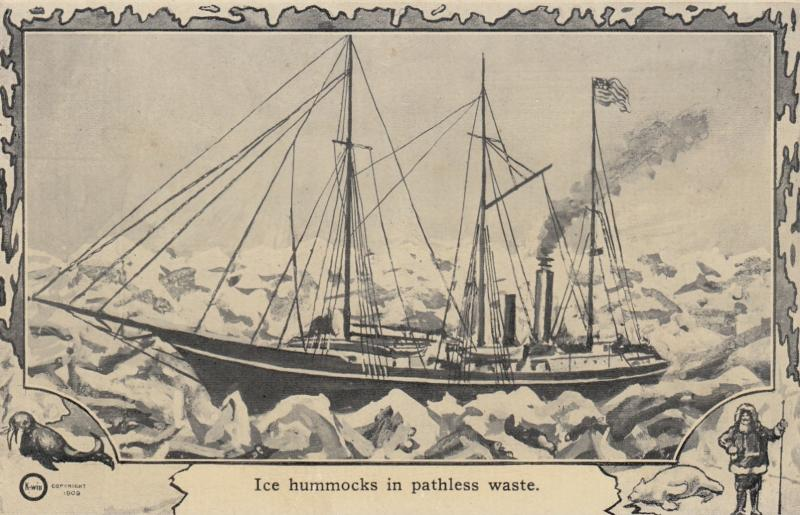 NORTH POLE, 1900-10s; Ice hummocks in pathless waste