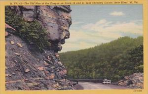 The Old Man Of The Canyon On Route 19 And  21 Near Chimney Corner New River W...