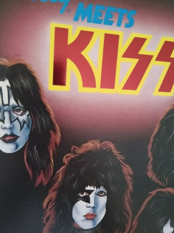 Kiss Pinball FLYER Original Bally 1979 Foldout Artwork Sheet Rock And Roll Music