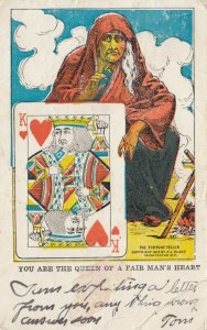 Playing Cards ; King of Hearts , 1910 ; The Fortune Teller