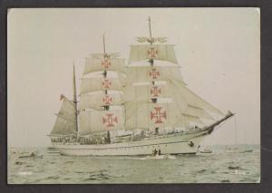 Portuguese Tall Ship Sagres Under Full Sail - Unused