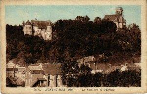 CPA Montataire- Le Chateau et l'Eglise FRANCE (1020640)