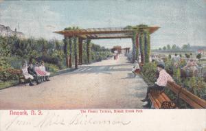 NEWARK, New Jersey, 1900-1910s; The Flower Terrace, Branch Brook Park
