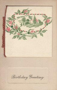 BIRTHDAY, 1900-10s; Greetings Booklet, Country View, Rhyme