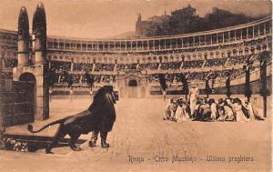 Italy Old Vintage Antique Post Card ROma Circo Massimo Unused