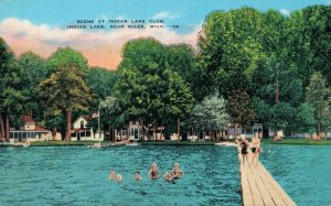 USA Michigan Indian Lake near Niles Scene at Indian Lake Club 04.29