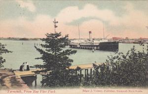Steamer in harbour , YARMOUTH , Nova Scotia , Canada , 00-10s