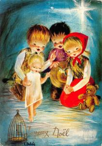 Happy New Year Children Bear Doll Joyeux Noel