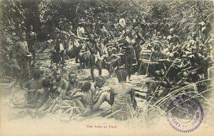 French Congo break into the forest Black Africa natives 1906 ethnic life