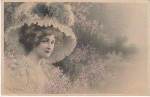 M.M.VIENNE : Female Head Portrait by Wichera , 1909 , #6