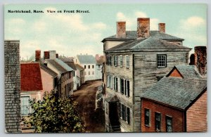 Marblehead Massachusetts~Weathered Buildings~Front Street~Narrow Dirt Lane~c1910