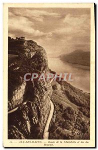 Old Postcard Aix les Bains Road Chambotte and Lake Bourget