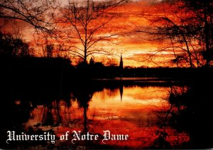 Indiana South Bend University Of Notre Dame At Sunrise Across St Mary's ...