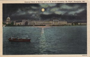 ANNAPOLIS, Maryland, PU-1956; General View Of Harbor And U.S. Naval Academy