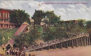 Moving Stairway On Lake Front, St. Joseph, Michigan, 1900-1910s
