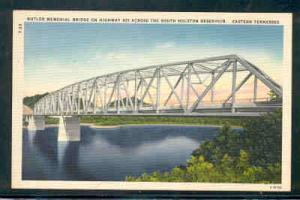 Tennessee colour PC Butler Memorial Bridge Hwy 421 S Holston Reservoir  unused