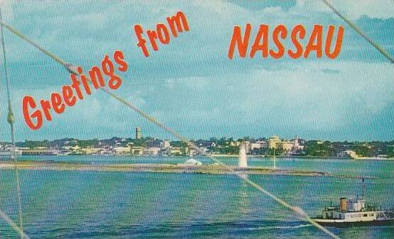 Bahamas Nassau From Across The Harbor Greetings From