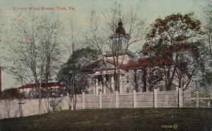 YORK, Pennsylvania; County Alms House, PU-1912