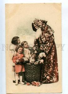 233383 NEW YEAR Kids SANTA CLAUS Dolls Vintage POLAND PC