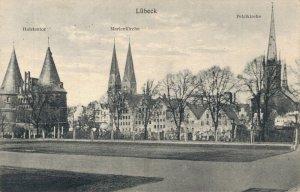Germany Lübeck Holstentor Marienkirche Petrikirche 03.32