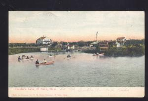 EL RENO OKLAHOMA PEACHE'S LAKE BOATING VINTAGE ANTIQUE OKLA. POSTCARD