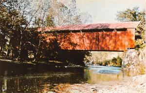 Post Card Old Vintage Antique The Perringtown Bridge, Perrintown, Ohio, USA U...