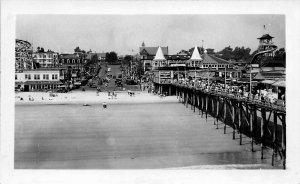 Old Orchard Beach ME Busy Day 1946 View From The Pier Downtown RPPC
