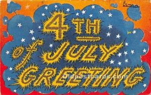 July 4th Independence Day Post Card Greetings 1913
