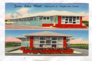 2-Views, 'Tween Lakes Motel, Dauphin, Manitoba, Canada, 50-70s