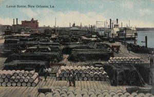 NEW ORLEANS, Louisiana, 1900-10s ; Fine ResidencesLevee Scene