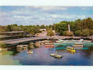 Glass Bottom Boat Silver Springs 100 Acre Park Cruise Tour  Postcard # 8512